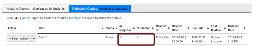 I enabled Autosubmit; why are some assessments still listed In Progress?