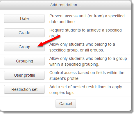 Group button is selected.
