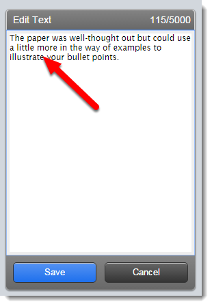 Edit text field is selected.