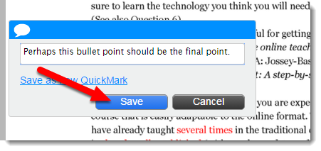 Save button is selected.