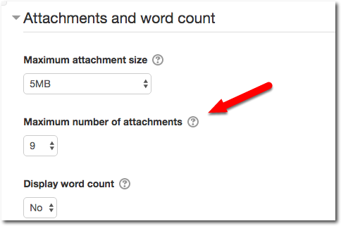 Attachments and word count section