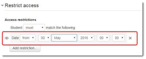 Date setting