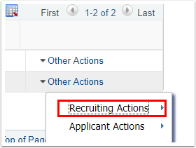Recruiting Actions link