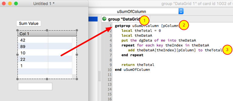 Add a getProp To Your Data Grid Script