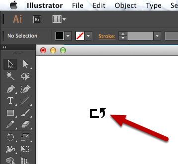 Open or create your shape in Adobe Illustrator
