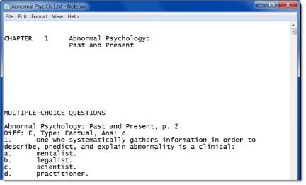 plain text editor like Notepad