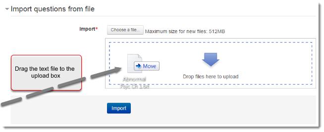 File upload area