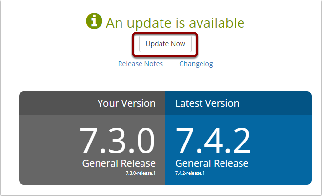 Click the Update Now button