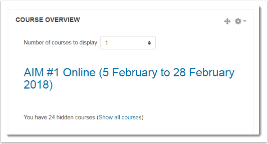 onOy one course displays on the page.