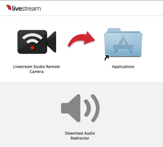 Using the Remote Desktop Client for macOS – Livestream Drag the Livestream Studio Remote Camera into the Applications folder.
