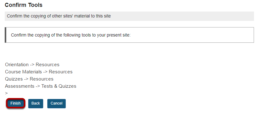 Confirm the import.