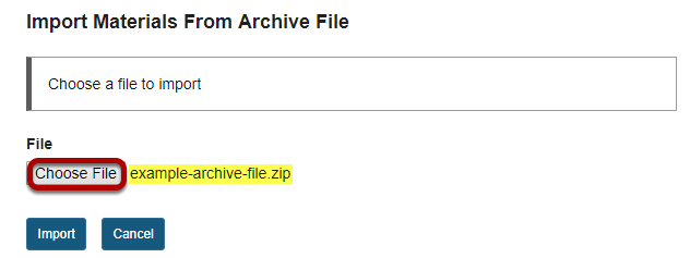 Choose file screen with Choose File button highlighted.