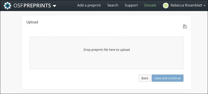 Upload a Preprint File