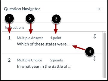 View Question Navigator