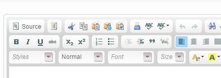 To paste your article from Microsoft Word, click on the Word icon at the top of the editor.
