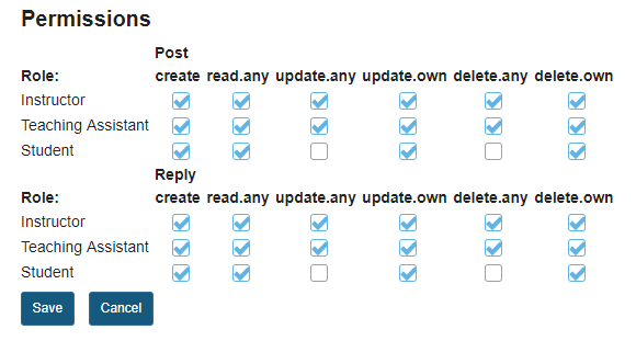 Select your permissions.