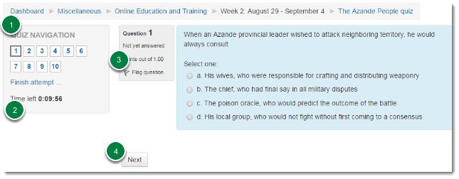Quiz page