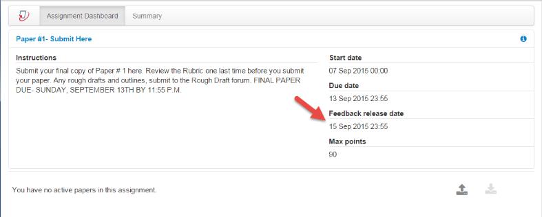 Feedback release date shown.