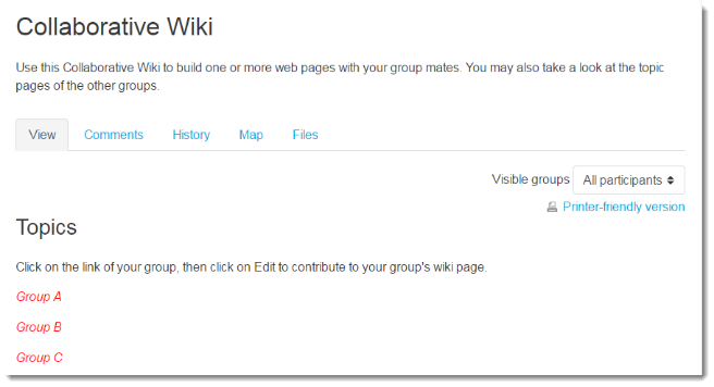 Collaborative wiki
