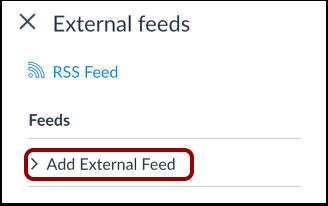 Add External Feed
