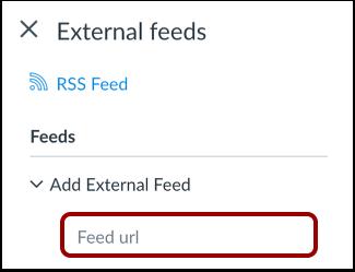 Enter Feed URL