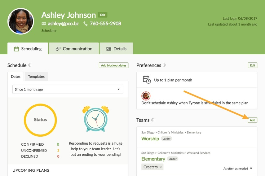 Assign Positions directly to a person's profile page.