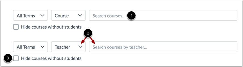 Sort and Search Courses