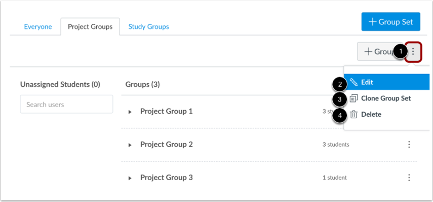 Gerenciar conjunto de grupos