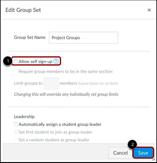 Save Group Set