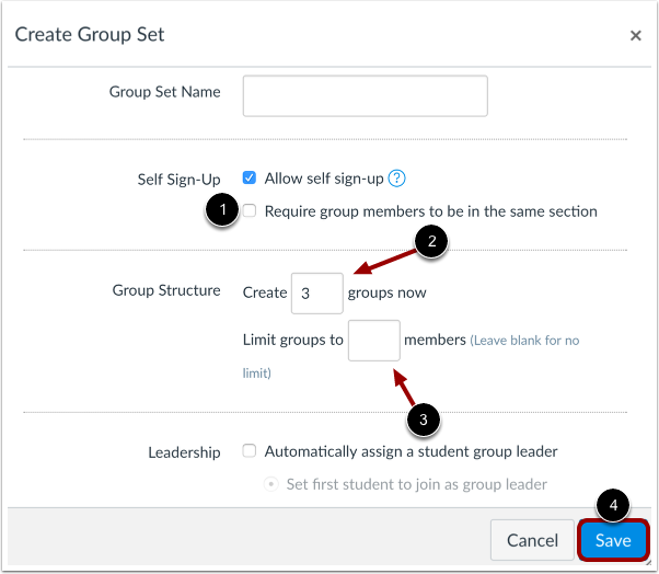 Create Group Structure