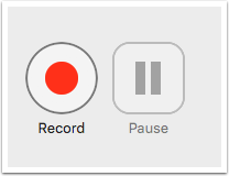 image showing record button within panopto recorder