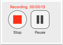 image showing stop and pause button in panopto recorder