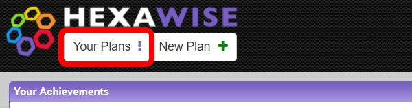 "To access Sample Plans, Login to Hexawise and click on ""Your Plans"" in the Upper Left Hand Corner"