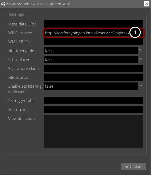 Input WMS URL