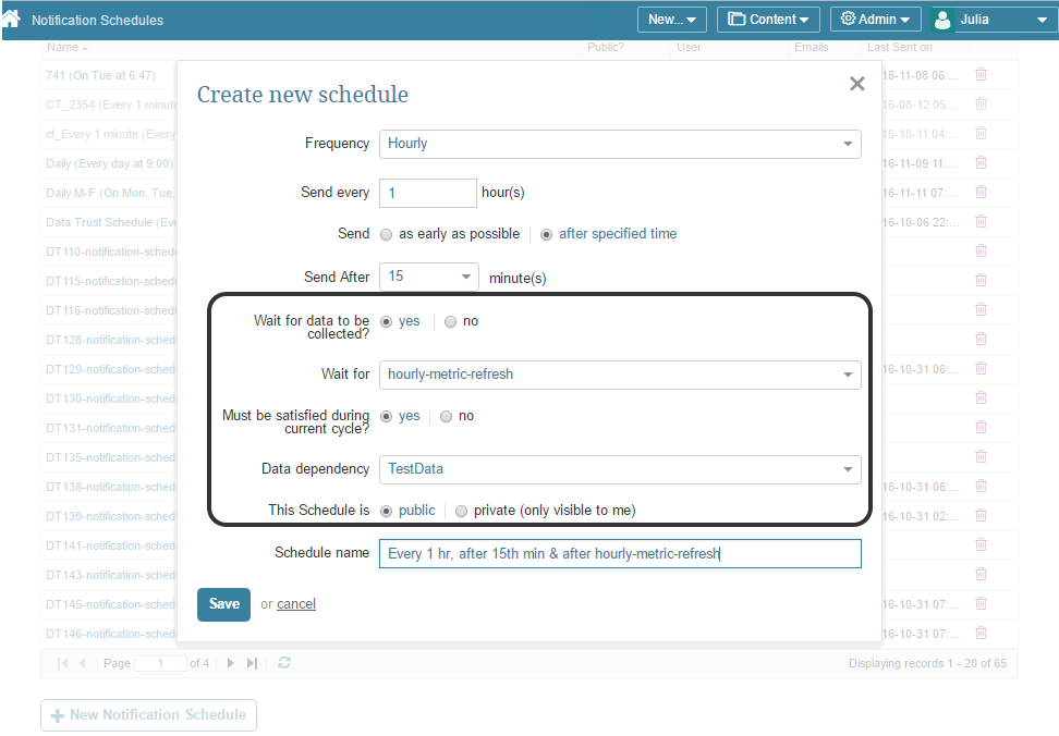 [For Admins only] Notification Schedule Editor for advanced options