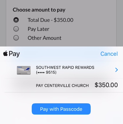 pay with passcode