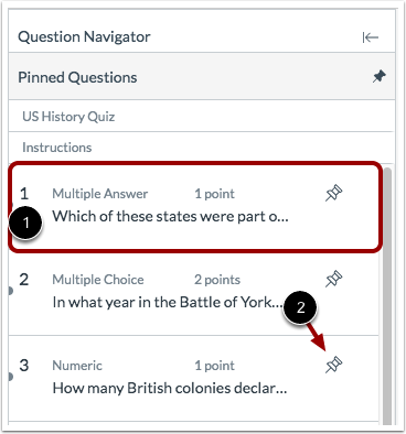 View Question Navigator