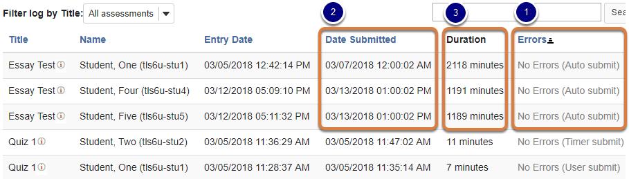 Event Log dates