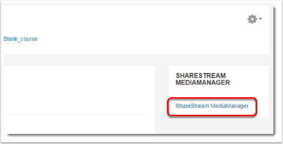 ShareStream MediaManager link is selected.