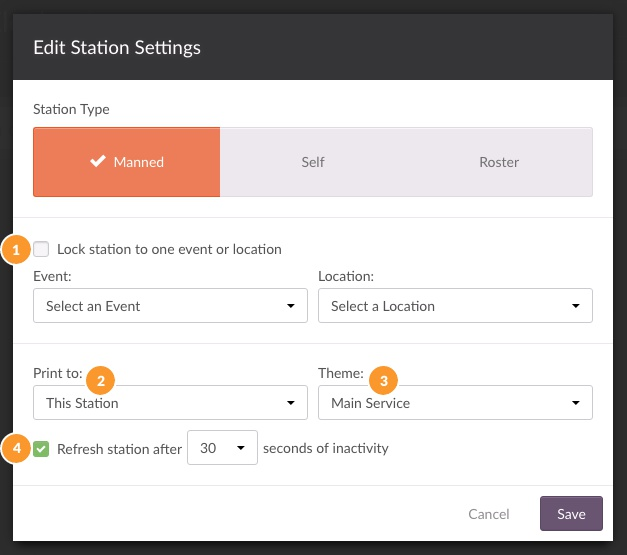 manned station settings