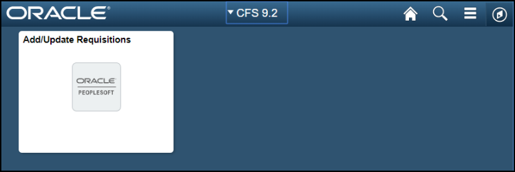 CFS Homepage with tile