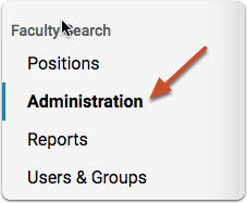 Navigate to the Administration page of the unit or position