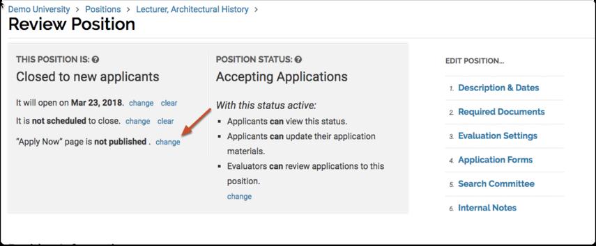 Publish Your Position
