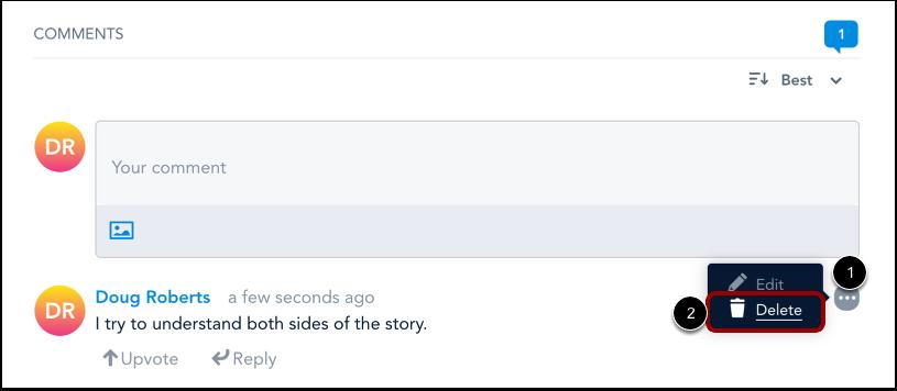 Supprimer le commentaire