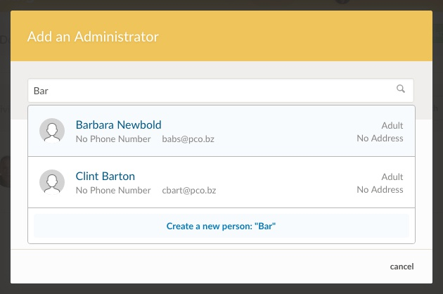 add administrator