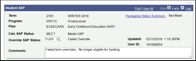 Studnt SAP Comments Section