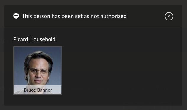 not authorized