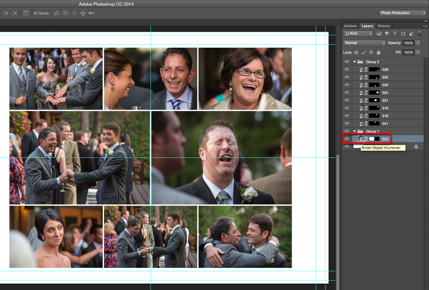 Editing your exported PSD spreads in Photoshop