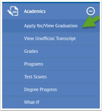 Apply for/View Graduation list items