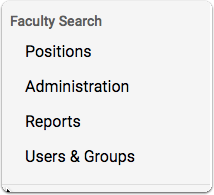 "From your account dashboard, scroll over ByCommittee Faculty Search and select ""View Positions"""